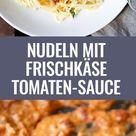 Nudeln mit Frischkäse-Tomaten-Sauce (Nur 15 Minuten!)