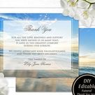 Funeral Thank You Cards | Printable Funeral Thank You Notes | Memorial Cards | Sympathy Bereavement Cards | Obituary Template Printed Card