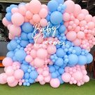 Pink And Blue Balloon Decoration Ideas For Gender Reveal Party