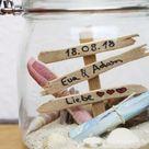 DIY Geschenk zur Hochzeit   Einfache Geschenkidee im Glas