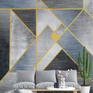 Abstract Line Texture Patterns Gray Wallpaper Mural
