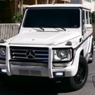 2002 Mercedes Benz G500 White on Black For Sale