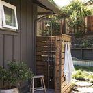 Gartendusche Sichtschutz - Ideen und Designs für Privatbereiche