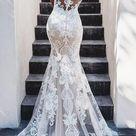 Mermaid Backless Lace Wedding Dresses