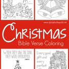 Christmas Bible Verse Coloring Pages