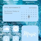 Pastel Blue Icon Pack For New IOS 14 Update Customize Home | Etsy