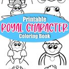 Printable Storybook Character Coloring Book for Kids