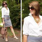 Gray Pencil Skirts