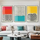 Abstract RYB Canvas Prints - 20\x28\ (50x70cm) / Set of 3