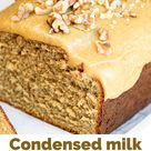 Condensed milk coffee cake