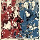Captain America Civil War, Marvel, Avengers - A4 Print / Poster