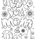 Valentine Word Doodles coloring pages | Free Printable Pictures