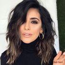 25 beste warme schwarze Haarfarbe Beispiele, die Sie Balayage finden können   balayage hair underlights