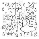 November Coloring Page • FREE Printable eBook