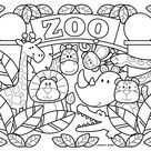 Attractive Zoo Coloring Pages For Preschoolers