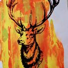 Original STAG screen print by Paul McNeil   A2 size   5