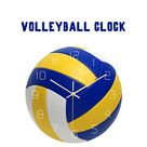 Runde Volleyball Aussehen Wanduhr stumm Home Decoration Wanduhr