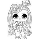 LOL Hairvibes Darling coloring page - Free LOL coloring pictures
