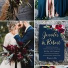 Moody Boho Chic Wedding Ideas with Matching Floral Wedding Invites - Elegantweddinginvites.com Blog