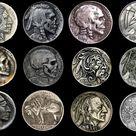 12 Carved Hobo Nickels