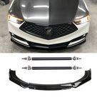 (eBay) For Acura TLX ILX Gloss Black Front Bumper Lip Kits Splitter Spoiler+ Strut Rods