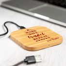 Wireless Charger   Travel Wireless Charging Pad   Bamboo Wireless Charging Station   Personalised Wireless Charger   Tech Gift   UV166