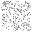 I Heart Unicorns - Small Coloring Book - Default Title