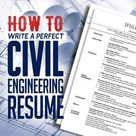 How to Write a Perfect Civil Engineering Resume | Articles | Graphic Design Junction