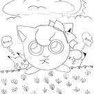 Pokemon Jigglypuff Stepping On Grass Coloring Page - Download & Print Online Coloring Pages for Free