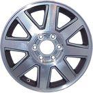 17 X 7 Reconditioned OEM Aluminum Alloy Wheel, Dark Silver, Fits 2004 2007 Buick Rainier