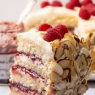 White Chocolate Almond Raspberry Cake - Baker by Nature