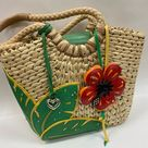 Brighton Bags | Brighton Tropical Red Flower Straw Shoulder Bag | Color: Cream/Red | Size: Os