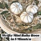 Weiße Mini Baby Boos  in 5 Minuten