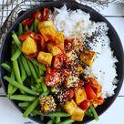 VEGAN KOCHEN: Tomaten-Tofu mit Bohnen und Basmatireis | EAT SMARTER