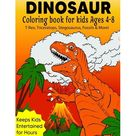 Dinosaur Coloring Book For Kids ages 4-8 (T-Rex, Triceratops, Stegosaurus, Fossils & More!): Children's Fossil & Dinosaur Coloring Book (Paperback)(Large Print)