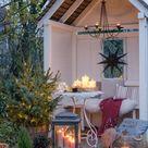 Weihnachtsstimmung im Garten und auf der Terrasse