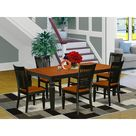 Darby Home Co Beesley Butterfly Leaf Rubberwood Solid Wood Dining Set Wood in Black, Size 30.0 H in   Wayfair