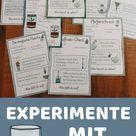 8 Experimente mit Wasser - Stationenkarten
