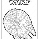 Star Wars Millenium Falcon Coloring Pages