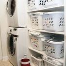 Laundry Room Shelving Ideas & Organization Tips   Polka Dot Chair