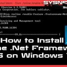 How to Install Net Framework 3.5 Offline DISM | Net Framework 3.5