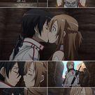 Sword Art Online - Asuna and Kirito first kiss