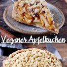 Veganer Apfelkuchen mit Streuseln (Apple Pie) - Elavegan | Rezepte