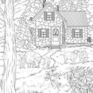 Pasture - Printable Adult Coloring Page from Favoreads (Coloring book pages for adults and kids, Coloring sheets, Colouring designs)