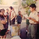I am a boyscout and as part of my eagle project/service project, I hosted a dinner for homeless families in coordination with the san fernando valley rescue mission where I got 14 volunteers to help me serve 28 homeless people.