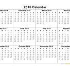 2015 Calendar - Blank Printable Calendar Template in PDF Word Excel