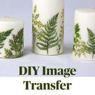 DIY Image Transfer Candles