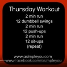 Thursday Workout