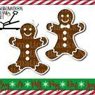 SVG Gingerbread Man SVG File, Gingerbread Girl Png, Christmas SVG, Digital Download for Cricut and S