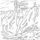 Malvorlage Surfen Welle | Sport - Kostenlose Ausmalbilder